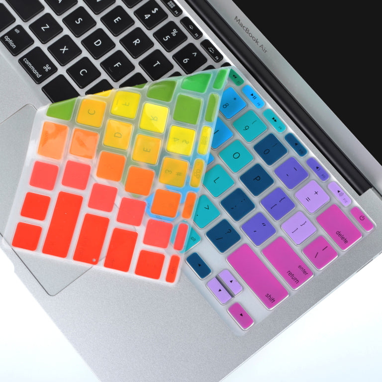 "Rainbow-2 Keyboard Silicone Cover Skin for Macbook Air 11"" Model: A1465"