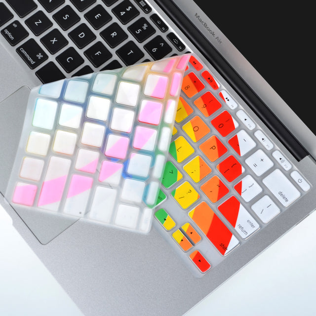 "Rainbow Keyboard Silicone Cover Skin for Macbook Air 11"" Model: A1465"