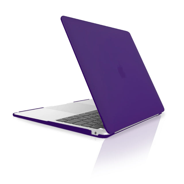 TOP CASE - Rubberized Hard Case Cover Compatible with 2018 Release Apple MacBook Air 13 Inch with Retina Display fits Touch ID Model: A1932 - Ultraviolet