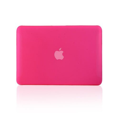 Hot Pink Rubberized Hard Case Cover for Macbook White 13""
