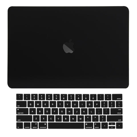 2016 Macbook Pro 15 Case 2 in 1 Bundle, Rubberized Matte Hard Case Cover + Matching Color Keyboard Cover for MacBook Pro 15-inch Model A1707 with Touch Bar ( Release Oct 2016 ) - Black
