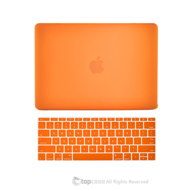 "TOP CASE 2 in 1 – Macbook Retina 12"" Rubberized Case + Keyboard Skin - Orange"