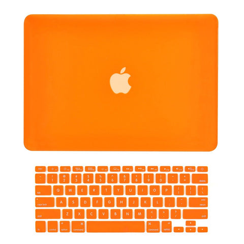 "TOP CASE 2 in 1 - Macbook Air 13"" Rubberized Case Cover + Keyboard Cover - Orange"