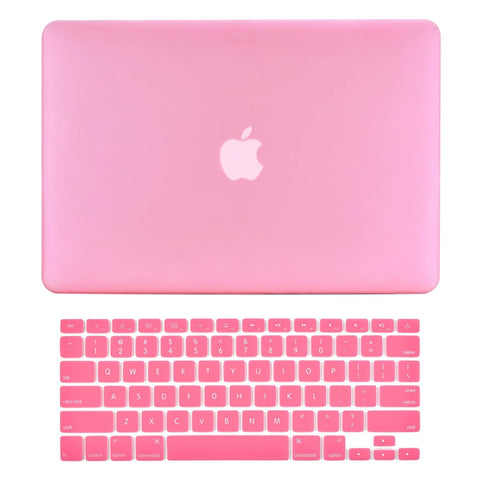 "TOP CASE 2 in 1 - Macbook Air 13"" Rubberized Case Cover + Keyboard Cover - Pink"