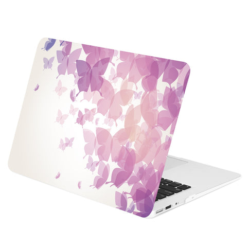 TOP CASE - Purple Butterflies Graphics Rubberized Hard Case Cover for MacBook Air 13""