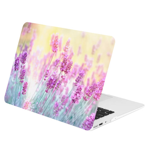 TOP CASE - Lavender Graphics Rubberized Hard Case Cover for Macbook Retina 13""