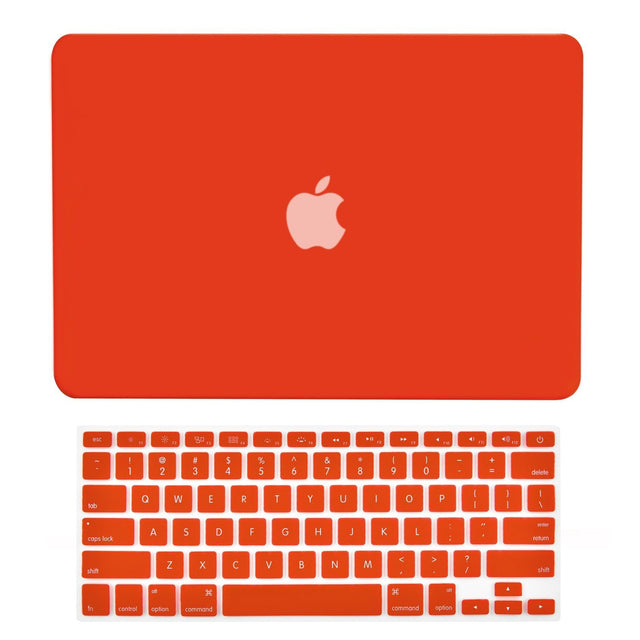 "TOP CASE 2 in 1 – Macbook Retina 12"" Rubberized Case + Keyboard Skin - Red"
