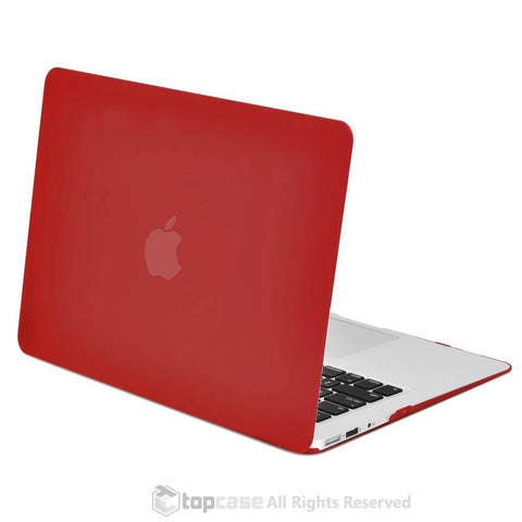 "Rubberized Wine Red Hard Case for Macbook Air 13"" A1369 and A1466"