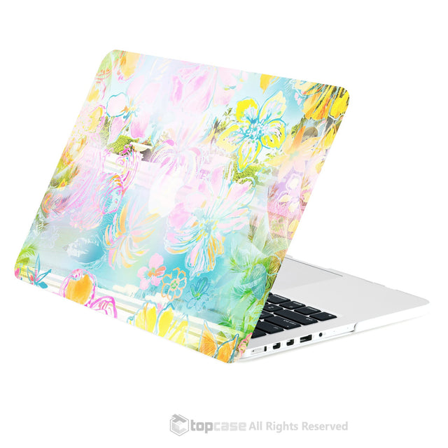 "TOP CASE - Vibrant Summer Series Rubberized Hard Case for Macbook Retina 13""  - Tropical Dance"