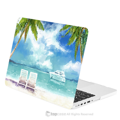 "TOP CASE - Art Printing Series Matte Hard Case for Macbook Pro 13"" with Retina Display - Beach Day"