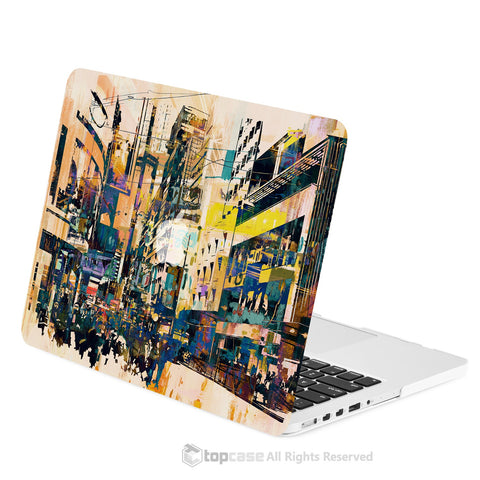"TOP CASE - City Street Retro Abstract Hard Case Cover for Macbook Retina 13"" - City Street Abstract"