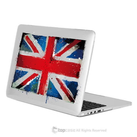 "TOP CASE - England National Flag Crystal Hard Case Cover for Macbook Retina 13"" - UK Flag"