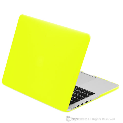"Neon Yellow Rubberized Case for NEW Macbook Pro 13"" A1425/A1502 with Retina display - TOP CASE"