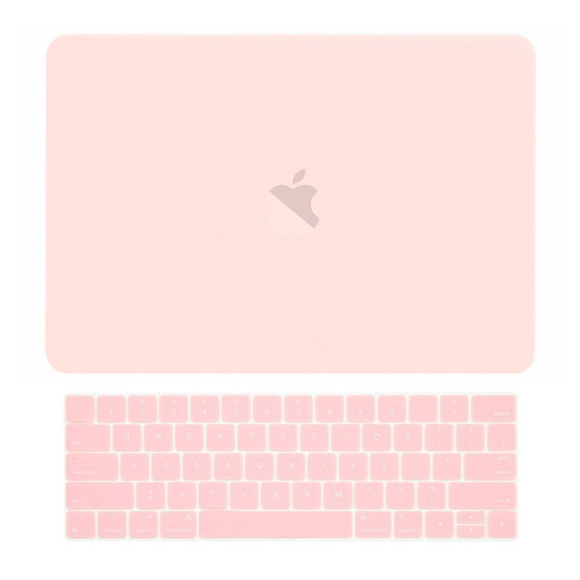 Macbook Pro 13 WITH Touch Bar (2016/17/18 Release) 2 in 1 Bundle, Rubberized Matte Hard Case Cover + Matching Color Keyboard Cover for MacBook Pro 13-inch A1706/A1989 with Touch Bar - Rose Quartz