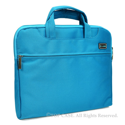 "Blue Nylon Lycra Fabric Carrying Sleeve Bag Briefcase for 12"" 12-Inch Apple Macbook (Newest Released Macbook) - TOP CASE"