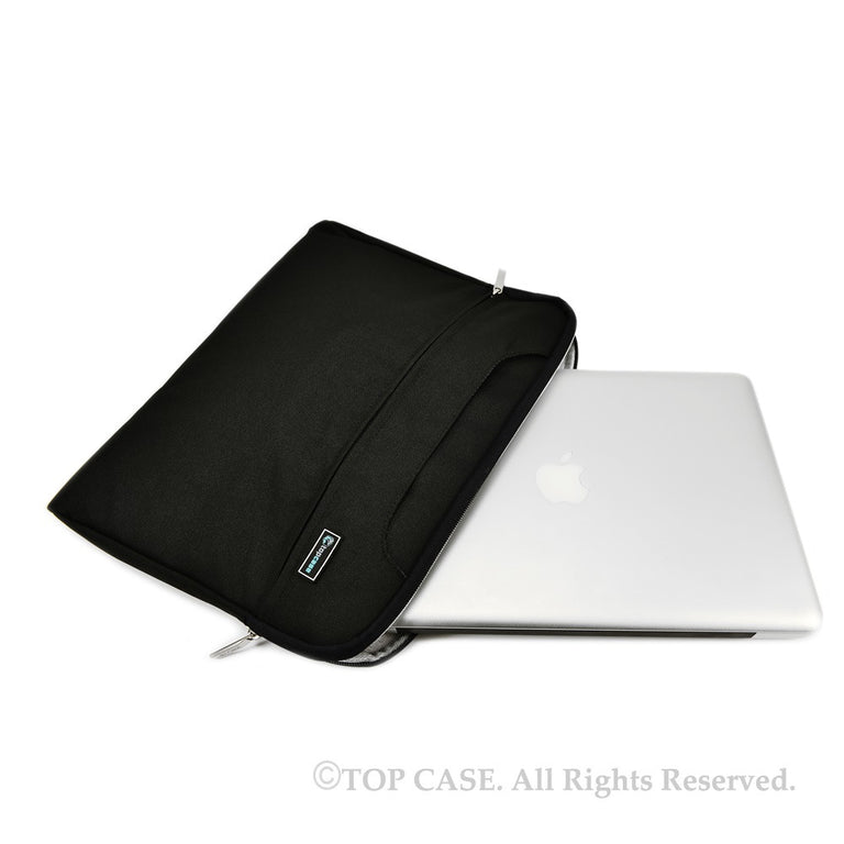 "Black Nylon Lycra Fabric Carrying Sleeve Bag Briefcase for 11"" 11-Inch Apple Macbook Air - TOP CASE"
