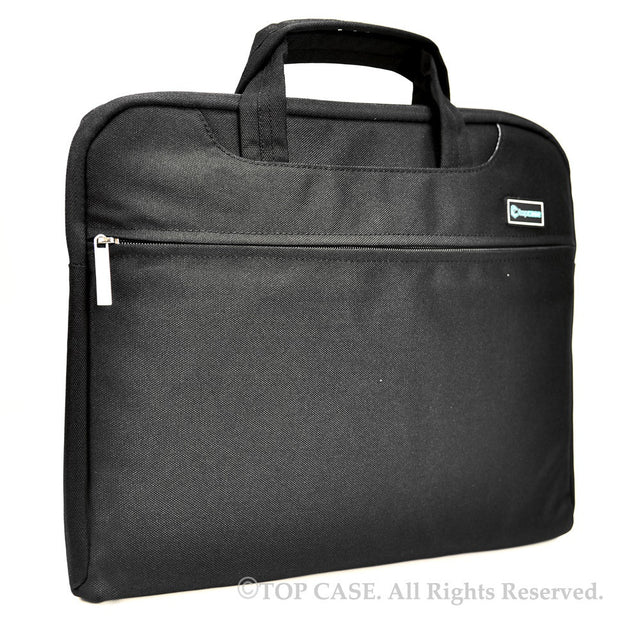 "Black Nylon Lycra Fabric Carrying Sleeve Bag Briefcase for 12"" 12-Inch Apple Macbook (Newest Released Macbook) - TOP CASE"