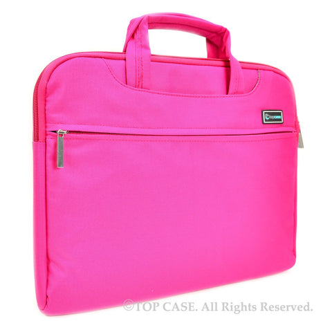 "Pink Nylon Lycra Fabric Carrying Sleeve Bag Briefcase for 12"" 12-Inch Apple Macbook (Newest Released Macbook) - TOP CASE"