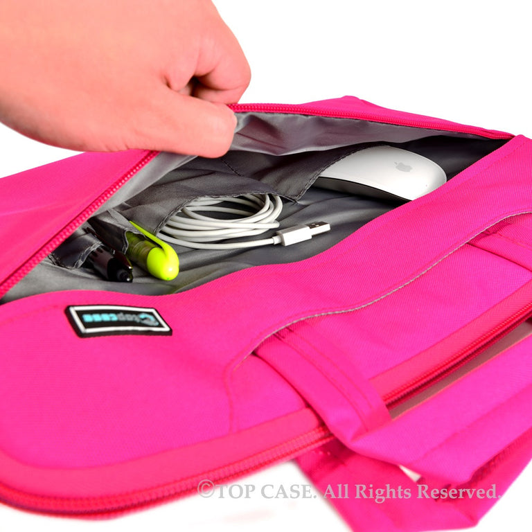 Pink Nylon Lycra Fabric Carrying Sleeve Bag Briefcase for all 15-Inch Laptops/Chromebooks/Ultrabooks/Apple Macbooks