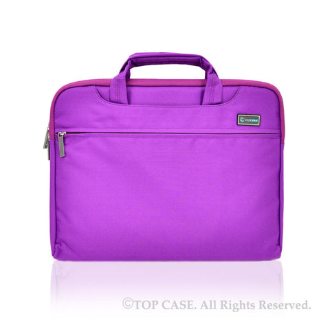 Purple Nylon Lycra Fabric Carrying Sleeve Bag Briefcase for all 13-Inch Laptops/Chromebooks/Ultrabooks/Apple Macbooks