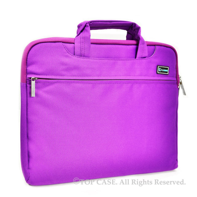 "Purple Nylon Lycra Fabric Carrying Sleeve Bag Briefcase for 12"" 12-Inch Apple Macbook"