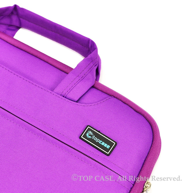 Purple Nylon Lycra Fabric Carrying Sleeve Bag Briefcase for Apple Macbook White, Air and Pro with/without Retina Display/Chromebooks/Ultrabooks