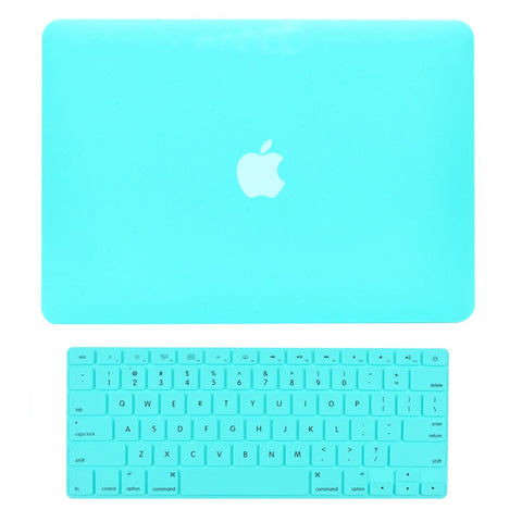 "TOP CASE 2 in 1 - Macbook Air 13"" Rubberized Case Cover + Keyboard Cover - Hot Blue"