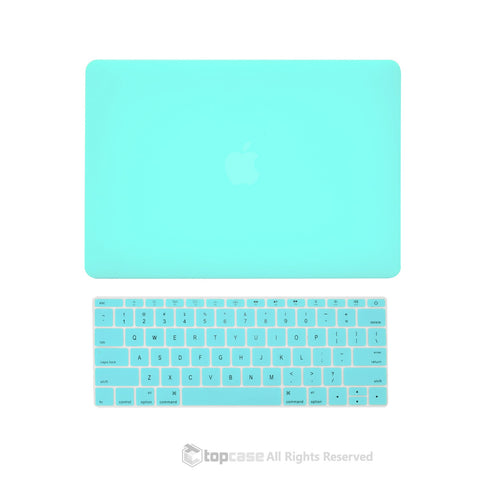 "TOP CASE 2 in 1 – Macbook Retina 12"" Rubberized Case + Keyboard Skin - Hot Blue"