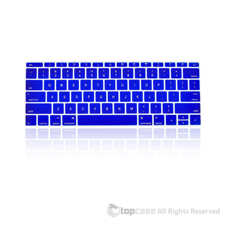 "Apple New Macbook 12"" Royal Blue keyboard Cover Silicone Skin for Macbook 12-inch with Retina Display Model A1534 Newest Version 2015 - TOP CASE"
