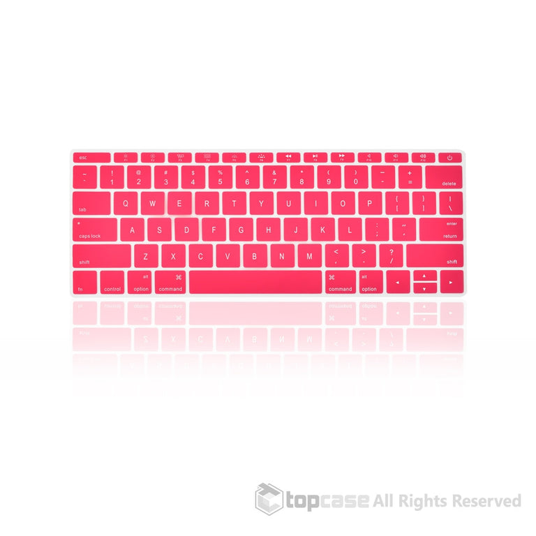 "New Macbook 12"" Pink keyboard Cover Silicone Skin for Macbook 12-inch with Retina Display Model A1534 Newest Version 2015 - TOP CASE"