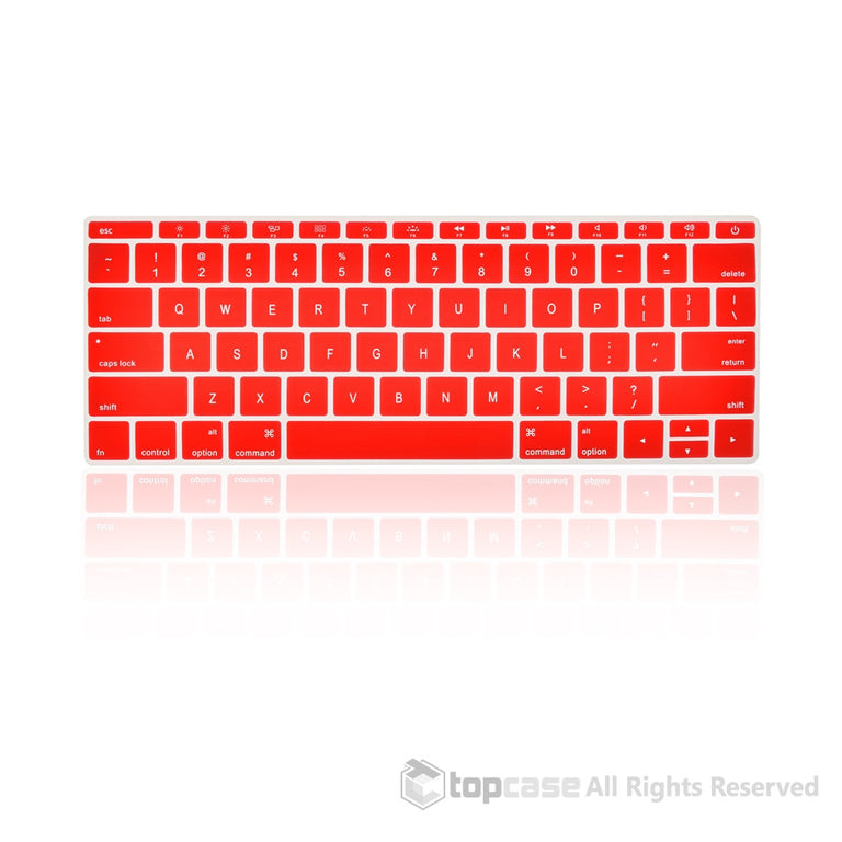 "Apple New Macbook 12"" Red keyboard Cover Silicone Skin for Macbook 12-inch with Retina Display Model A1534 Newest Version 2015 - TOP CASE"