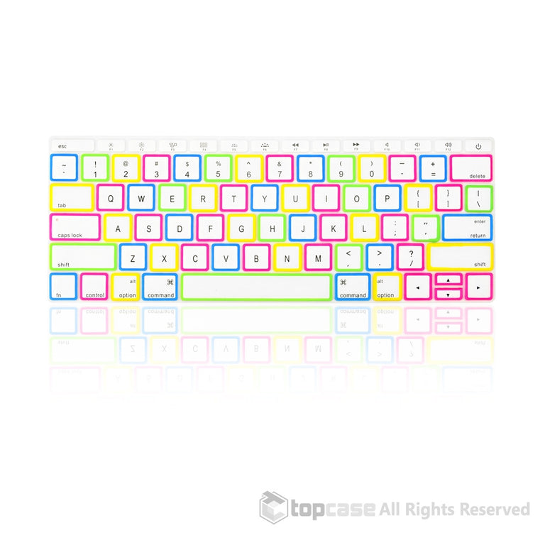 "Apple New Macbook 12"" Candy White Keyboard Cover Silicone Skin for Macbook 12-inch with Retina Display Model A1534 Newest Version 2015 - TOP CASE"