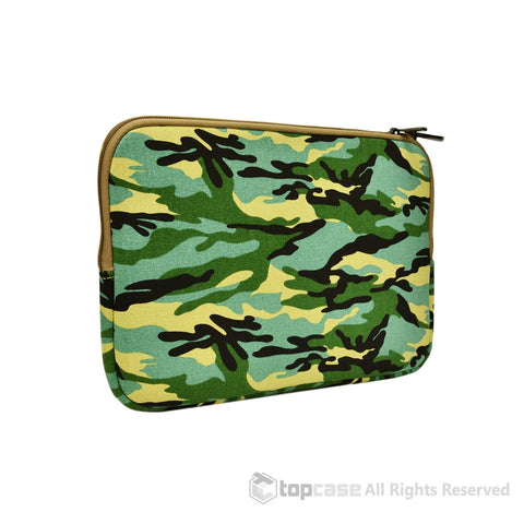 "Top Case Light Blue Camouflage Canvas Fabric Laptop Sleeve Bag for All Macbook White / Pro / Air 13"" Laptop with or without Retina Display / Ultrabook"