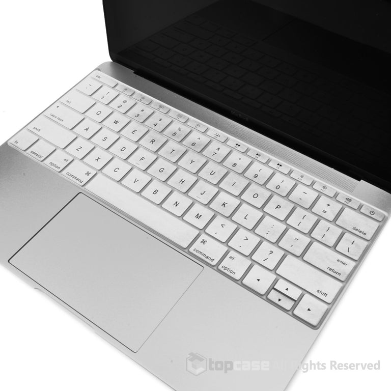 "Apple New Macbook 12"" Silver keyboard Cover Silicone Skin for Macbook 12-inch with Retina Display Model A1534 Newest Version 2015 - TOP CASE"