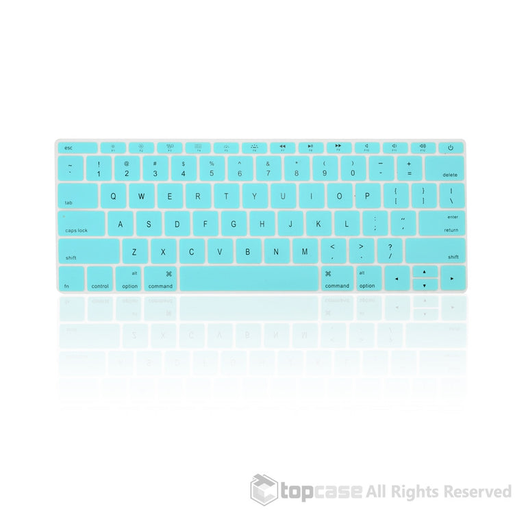 "Apple New Macbook 12"" Hot Blue keyboard Cover Silicone Skin for Macbook 12-inch with Retina Display Model A1534 Newest Version 2015 - TOP CASE"