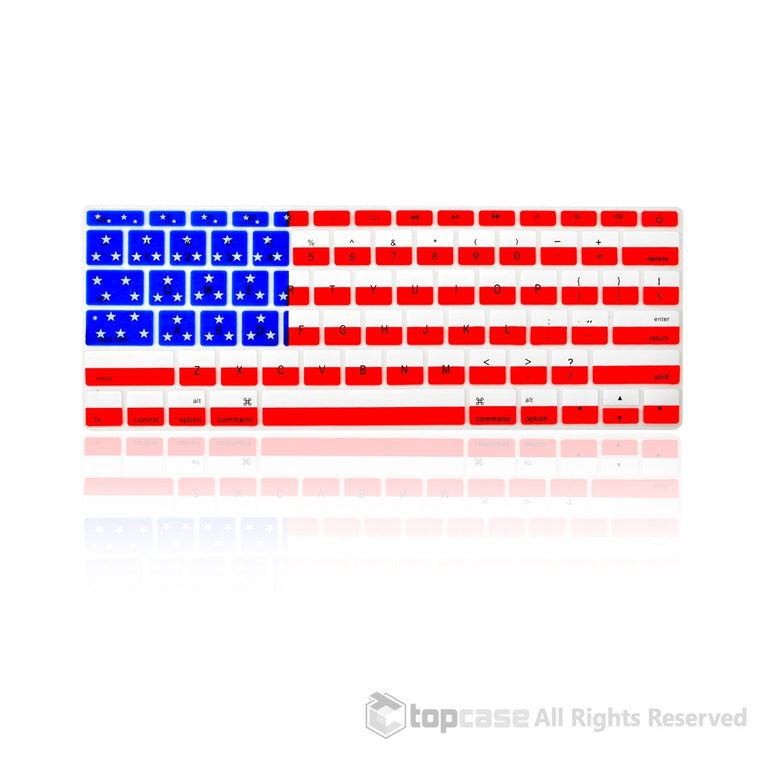 "Apple New Macbook 12"" US Flag Keyboard Cover Silicone Skin for Macbook 12-inch with Retina Display Model A1534 Newest Version 2015 - TOP CASE"