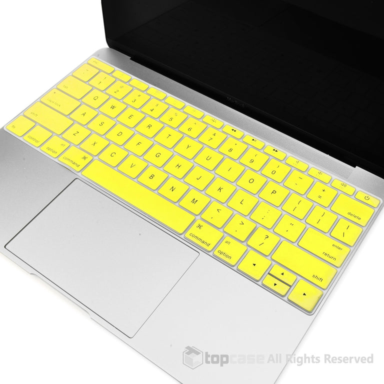 "Apple New Macbook 12"" Yellow Keyboard Cover Silicone Skin for Macbook 12-inch with Retina Display Model A1534 Newest Version 2015 - TOP CASE"