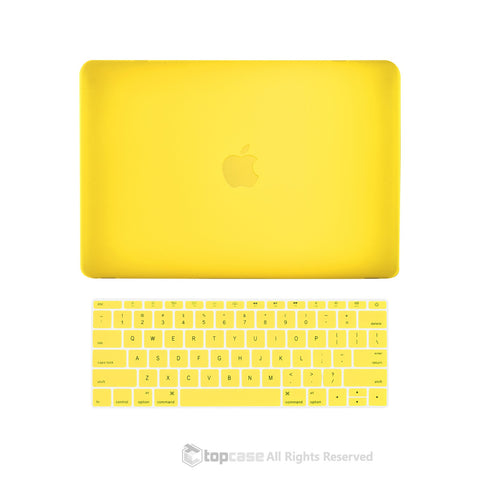 "TOP CASE 2 in 1 – Macbook Retina 12"" Rubberized Case + Keyboard Skin - Yellow"