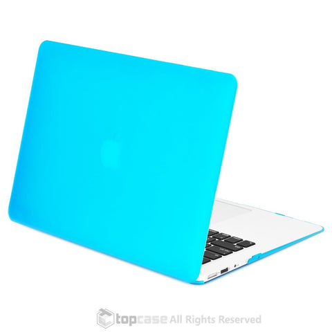 "Rubberized Aqua Blue Hard Case for Macbook Air 13"" A1369 and A1466"