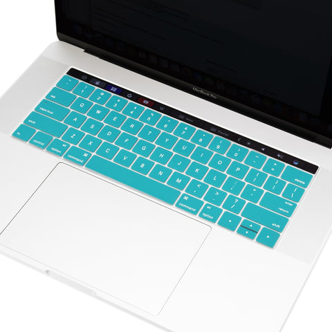 "2016 Macbook Pro Keyboard Cover, Ultra Slim Silicone Keyboard Cover Skin for Macbook Pro 13"" 15"" WITH Touch Bar A1706 / A1707 (2016 Release) - Aqua Blue"