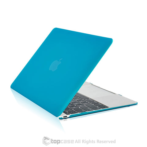 "Apple the New Macbook 12-Inch 12"" Retina Display Laptop Computer Aqua Blue Rubberized Hard Shell Case Cover for Model A1534 (Newest Version 2015) - TOP CASE"