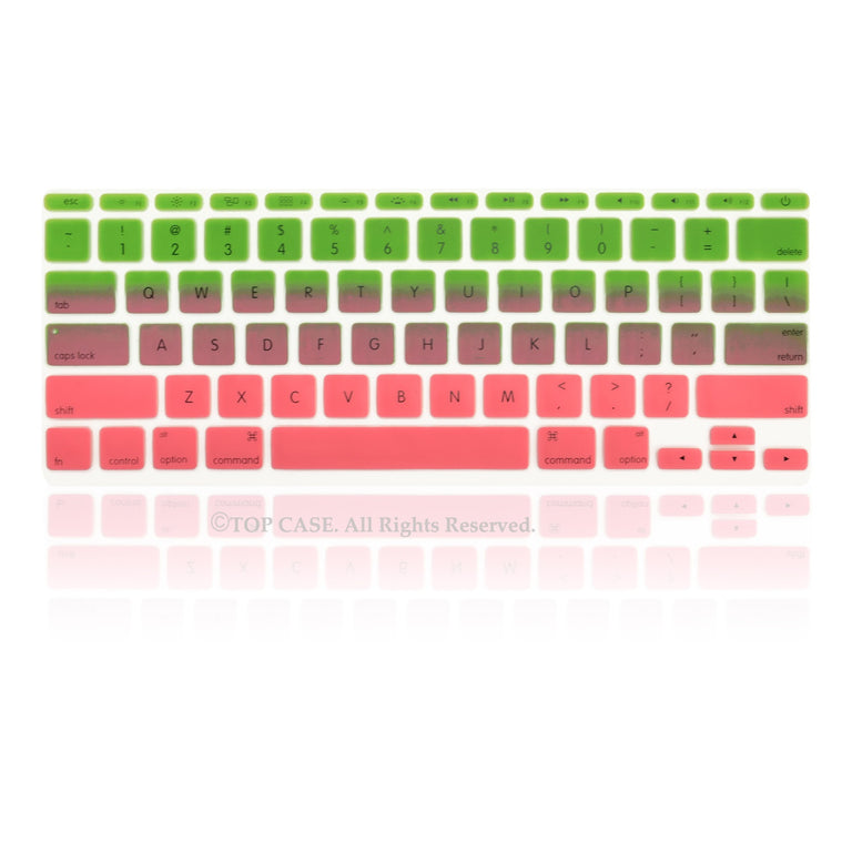 "Green & Pink Faded Ombre keyboard Cover Silicone Skin for Macbook Air 11"" 11-inch - TOP CASE"