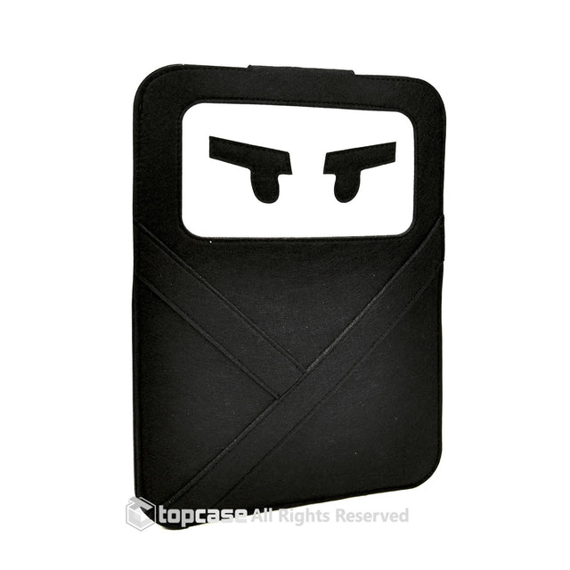 "Black Ninja Felt  Sleeve Bag / Carrying Case for Apple Macbook 13"" Laptop / Ultrabooks / Chromebook - TOP CASE"