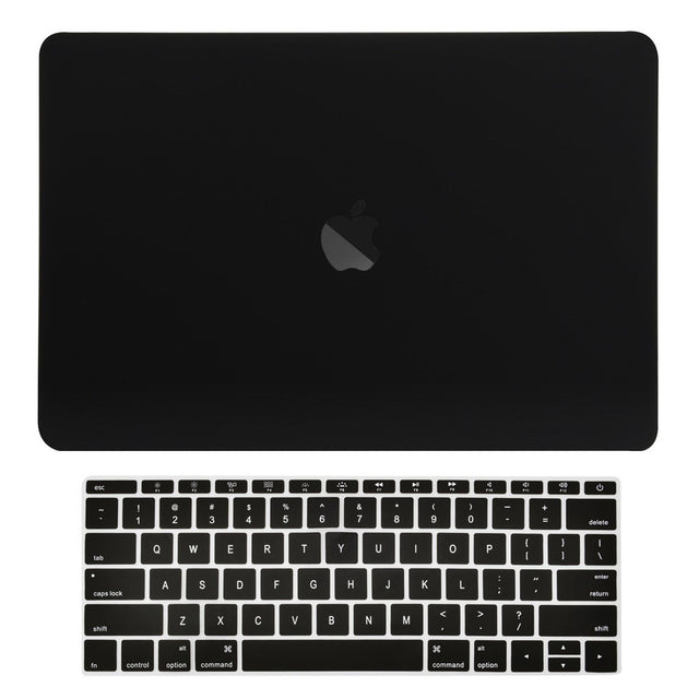 Macbook Pro 13 WITHOUT Touch Bar (2016 Release) 2 in 1 Bundle, Rubberized Matte Hard Case Cover + Matching Color Keyboard Cover for MacBook Pro 13-inch A1708 without Touch Bar - Black