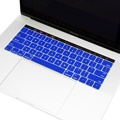 "2016 Macbook Pro Keyboard Cover, Ultra Slim Silicone Keyboard Cover Skin for Macbook Pro 13"" 15"" WITH Touch Bar A1706 / A1707 (2016 Release) - Royal Blue"