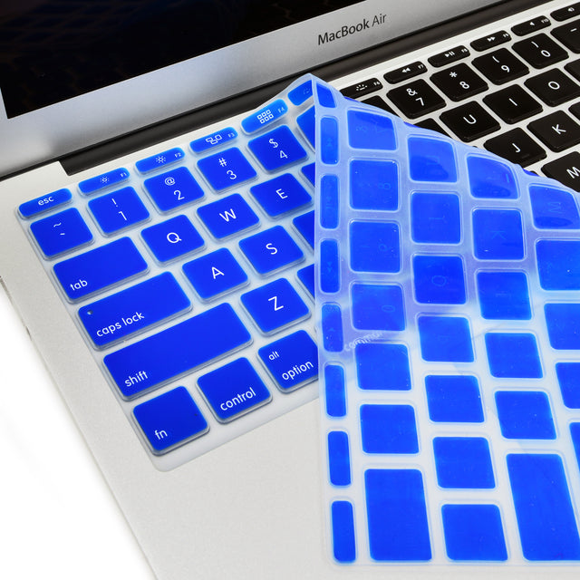 "Royal Blue Keyboard Silicone Cover Skin for Macbook Air 11"" Model: A1465"
