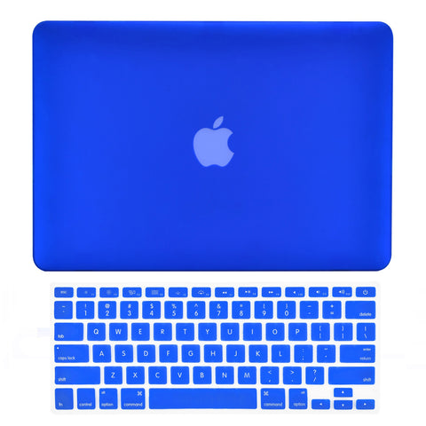 "TOP CASE 2 in 1 - Macbook Pro 15"" Matte Case + Keyboard Skin - Royal Blue"