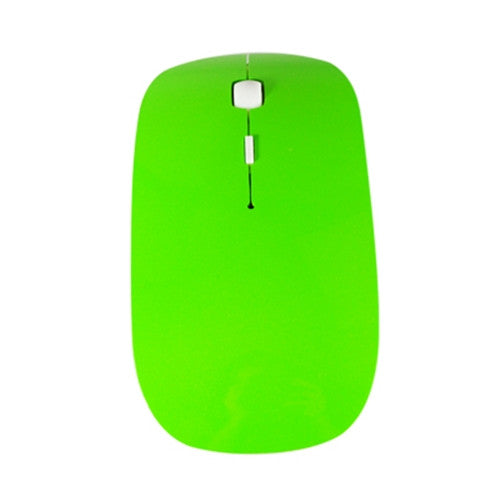 Green USB Wireless Optical Mouse for Macbook All Laptop - TOP CASE