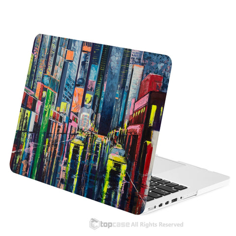 "TOP CASE - Art Printing Series Hard Case for Macbook Pro 13""with Retina Display - Raining City Night"