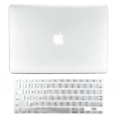 "TOP CASE 2 in 1 - Macbook Pro 15"" Matte Case + Keyboard Skin - Clear"